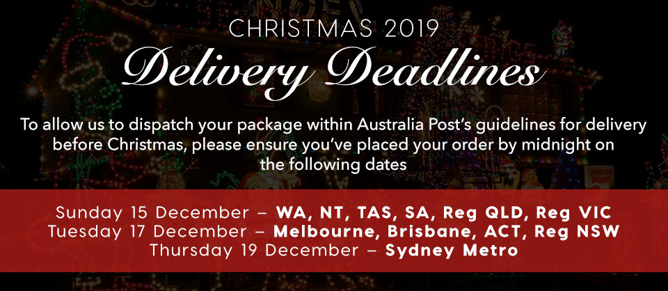 Christmas Delivery Deadlines