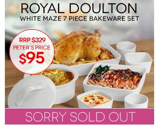 Peters Daily Deal Royal Doulton Gordon Ramsay Maze Bakeware Set