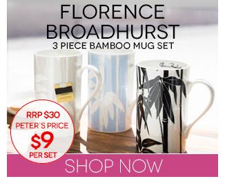 Peters Daily Deal Florence Broadhurst Bamboo Mug Set