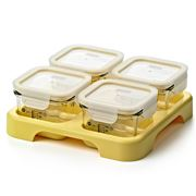 Glasslock - Baby Food Container Set With Tray 5pce