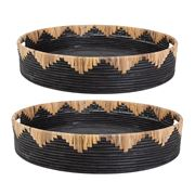 Florabelle - Livingstone Tray Black Set of 2pce