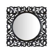 Florabelle - Astawa Lattice Mirror Black 80cm