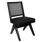 Cafe Lighting - The Imperial Rattan Black Dining Chair Black