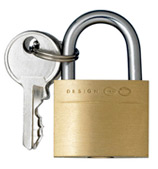Go Travel - Brass Padlock