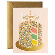 Rifle Paper Co - Rainbow Layer Cake Birthday Card