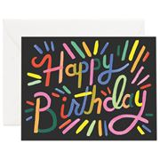 Rifle Paper Co -  Fireworks Birthday Card