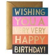 Rifle Paper Co - Colour Block Birthday Card