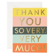 Rifle Paper Co - Colour Block Thank You Card