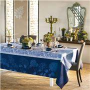 Garnier-Thiebaut - Hortensias Tablecloth Blue 115x115cm
