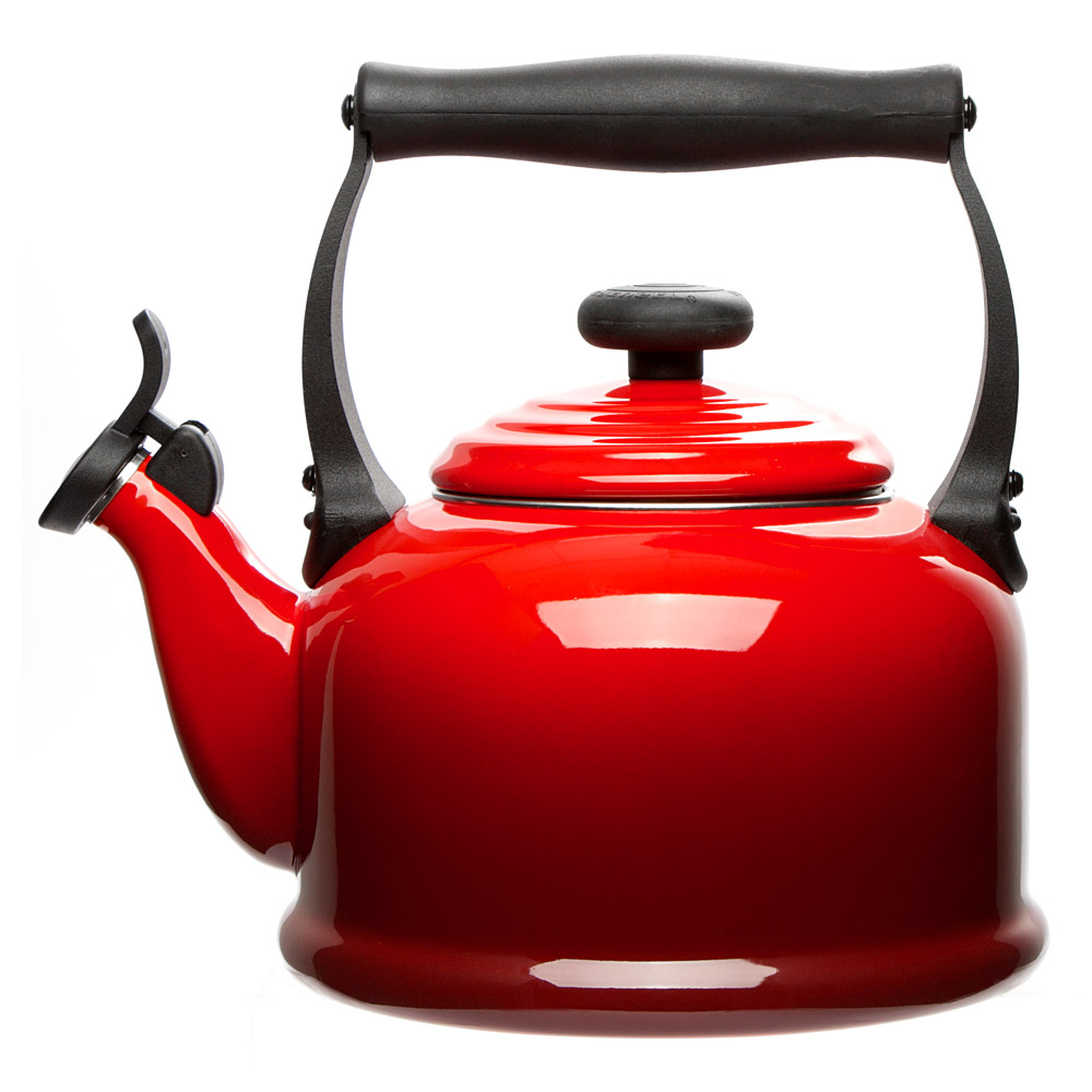 Le Creuset - Cerise Red Traditional Kettle 2.1L | Peter's of