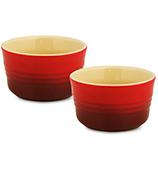 Le Creuset - Cerise Red Stoneware Ramekin Set 2pce