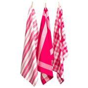 Rans - Madrid Tea Towel Hot Pink Set 3pce