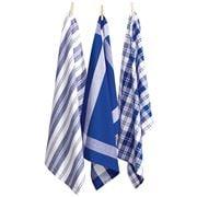 Rans - Madrid Tea Towel Cobalt Blue Set 3pce