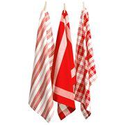 Rans - Madrid Tea Towel Red Set 3pce