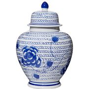 Flair Decor - Chain Blossom Ming Jar Blue & White 16.5x25cm