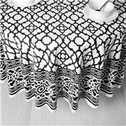 Rans - Vintage Round Tablecloth Black 180cm