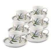 Portmeirion - Botanic Garden Can Teacup & Saucer Set of 6