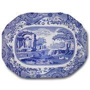 Spode - Blue Italian Large Oval Platter