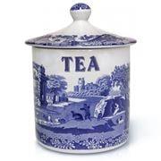 Spode - Blue Italian Tea Canister