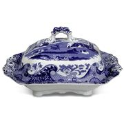 Spode - Blue Italian Vegetable Dish with Lid