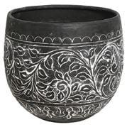OneWorld - Embossed Planter Black & White 30cm