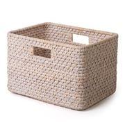 Peter's - Rattan Rectangular Basket White Wash 34x23x25cm