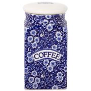 Burleigh - Blue Calico Square Coffee Jar w/Sealed Lid 18.1cm