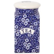 Burleigh - Blue Calico Square Tea Jar w/Sealed Lid 18.1cm