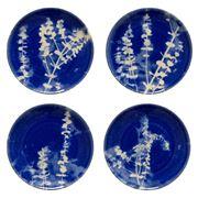 Costa Nova - Elements Salad/Dessert Plate Set Blue 22cm 4pce