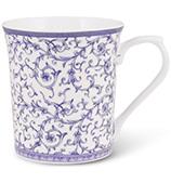 Queens - Blue Story Arabesque Mug