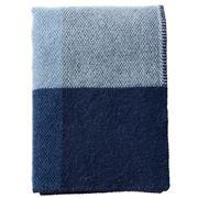 Klippan - Block Blue Throw Rug 130 x180cm
