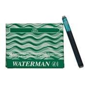 Waterman - Large Green Fountain Pen Cartridge Set 8pce