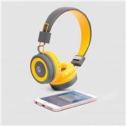 Thumbs Up - Pump Bluetooth Headphones Yellow & Grey