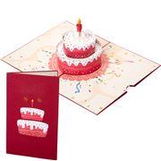 Colorpop - Birthday Cake Greeting Card Red Medium