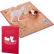 Colorpop - Cat Family Greeting Card Medium