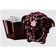Rosenthal- Versace Medusa Gypsy Box With Lid Fuschia
