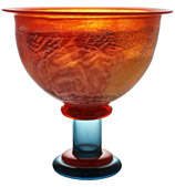 Kosta Boda - Can Can Footed Bowl Orange