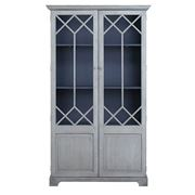 French Country - Norah Display Cabinet Grey
