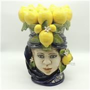 Zanatta - Blue Female Head With Lemon Application