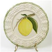 Zanatta - Dessert Dish w/Twisted Edge & Lemon Design 23.5cm