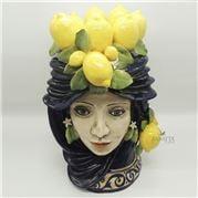 Zanatta - Female Head With Lemon Application 33x58.5cm