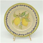 Zanatta - Italian Dessert Dish w/Lemon Design Cream Colour