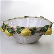 Zanatta - Ceramic Basket with Lemons Application 64x28cm