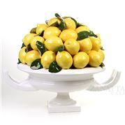 Zanatta - Amphora Fruit Bowl Of Lemon w/Square Base