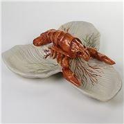 Zanatta - 3 Leaves Snack Dish with Lobster 28x12cm