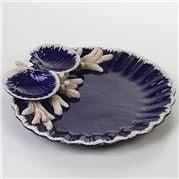Zanatta - Blue Shells Snack Dish w/ Faience Coral 35x6x34cm