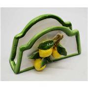 Zanatta - Lemon Napkin Holder w/Green Frieze 18.5x11.5x6cm