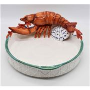 Zanatta - Lobster Salad Bowl w/Shells And Corals 34x13cm