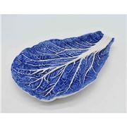 Zanatta - Dutch Blue Chard's Leaf Snack Dish 27x19cm