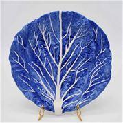 Zanatta - Dutch Blue Chard Dessert Dish w/White Relief 26cm